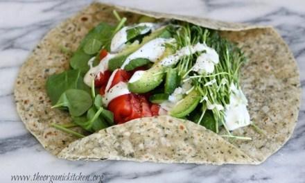 Veggie Wrap~ Five Minute Lunch