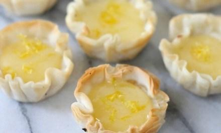 Mini Lemon Cheesecake Tartlets
