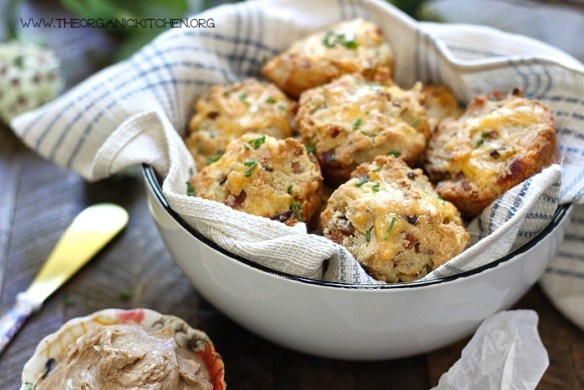 Cheddar Bacon Biscuits with Maple Cinnamon Butter!