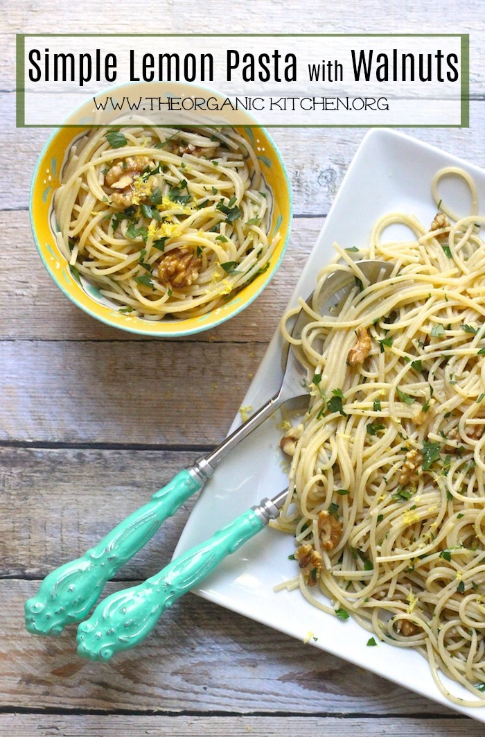 Simple Lemon Pasta with Walnuts