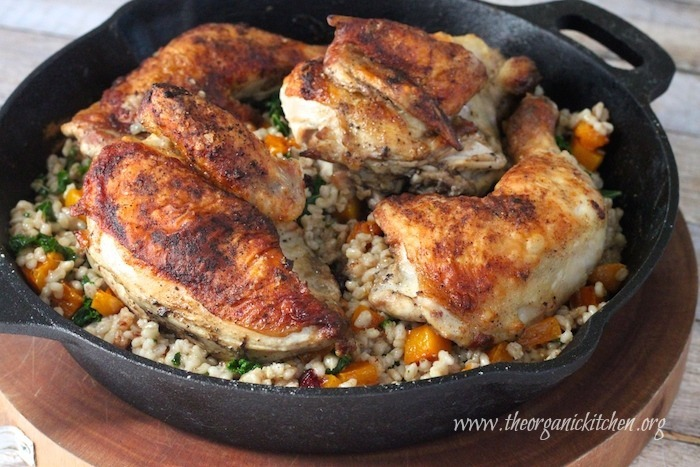 Autumn Chicken with Butternut Squash and Barley