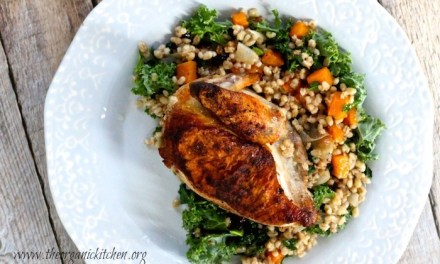 Autumn Chicken with Roasted Butternut Squash and Barley