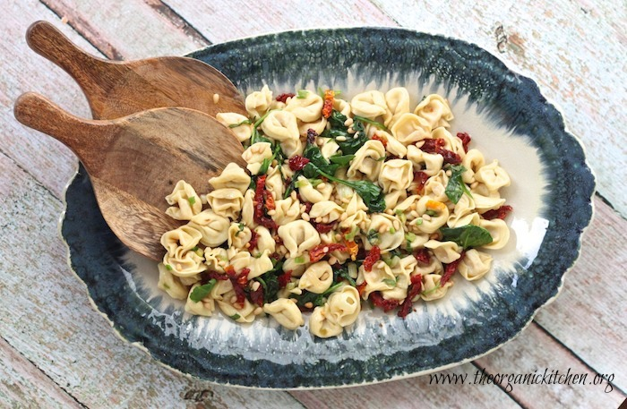 Three Cheese Tortellini with Spinach and Sun Dried Tomatoes~ Another 15 minute meal