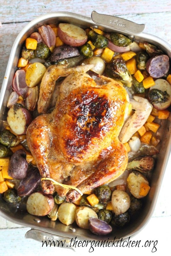 Maple Roasted Chicken with Vegetables