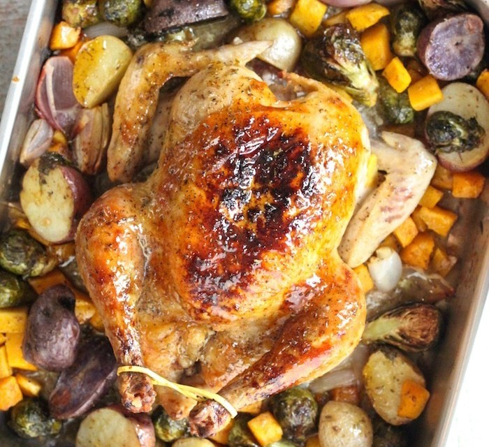 Maybe My Best Roasted Chicken Yet! ~ Maple Roast Chicken with Vegetables