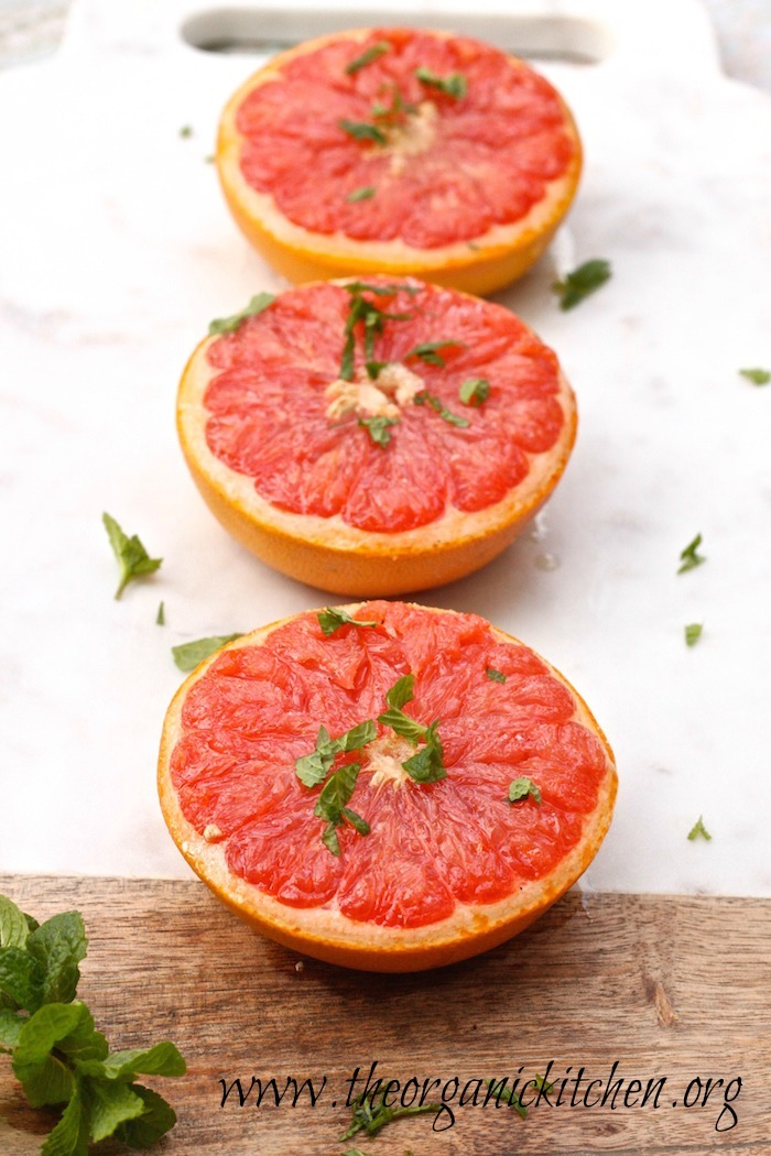 Grapefruit Brûlée and Broiled Grapefruit with Mint