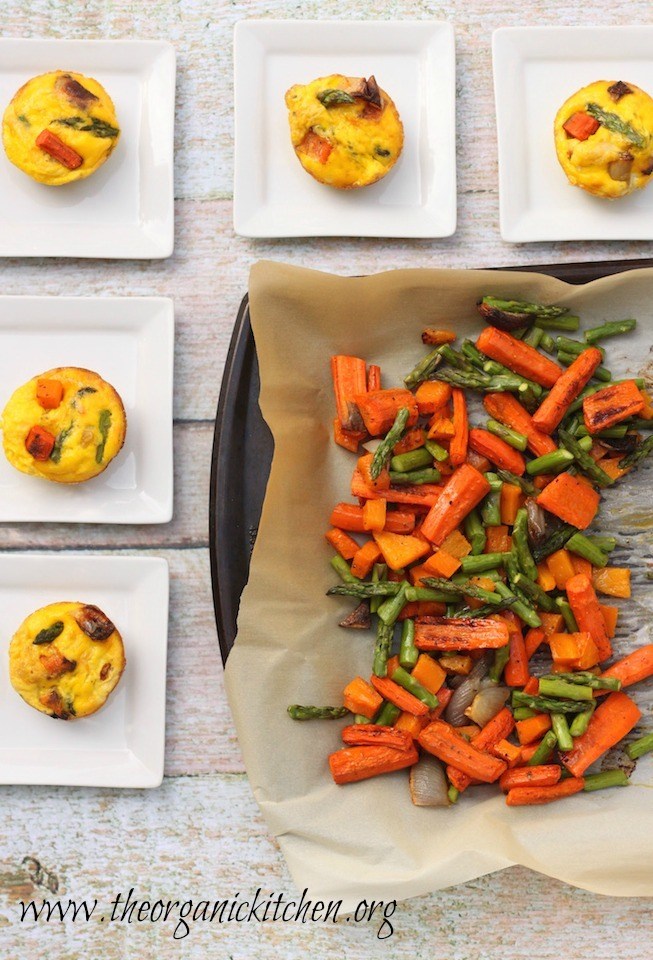 Utilize your leftovers with these Roasted Vegetable Eggs Cups!