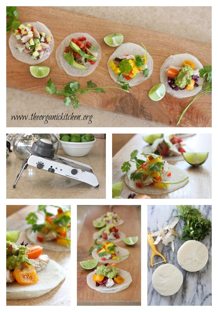 Jicama Taco Party! Carb free, grain free mini taco shells!