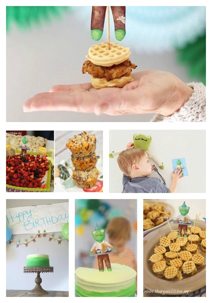 Spicy Fried Chicken Nuggets and Mini Waffles~ Birthday recipes