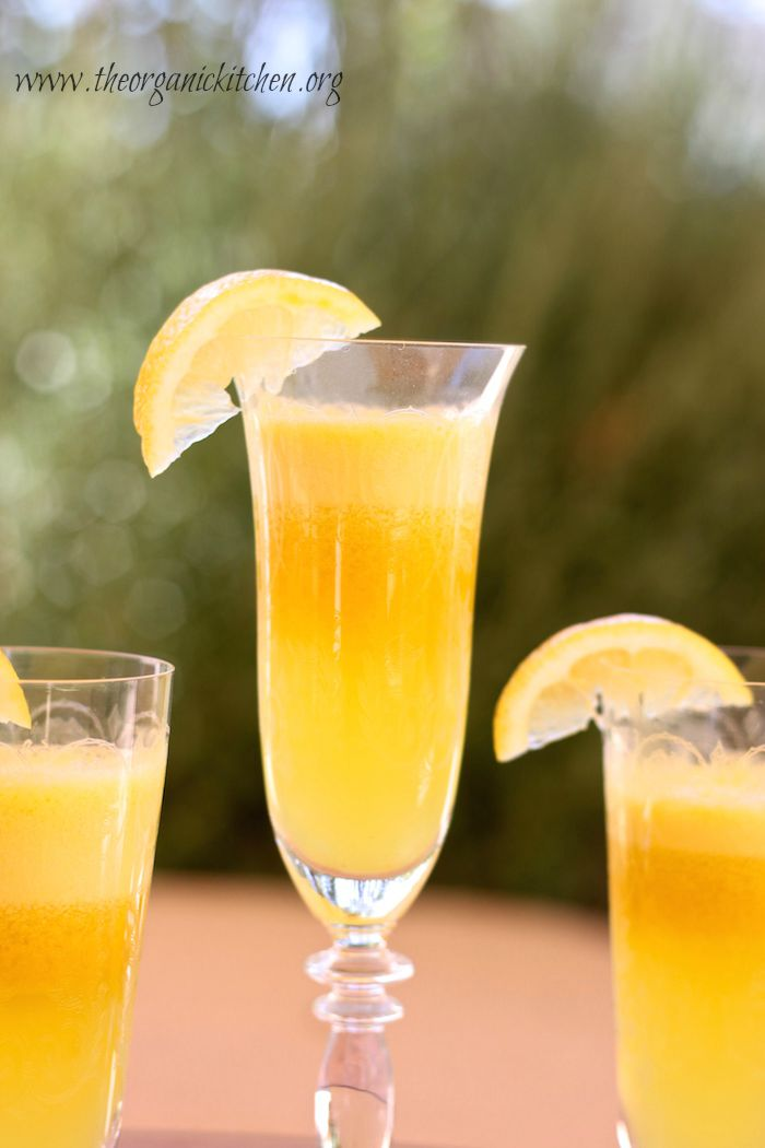 The Morning Glory Juice: Just the right combination of orange, lemon , apple and turmeric!