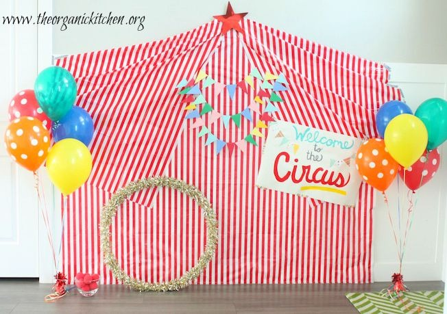 Recipes for a Junk Food Free Party and DIY Circus Theme