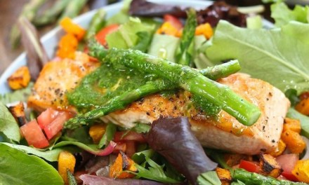 Salmon Salad with Basil Vinaigrette