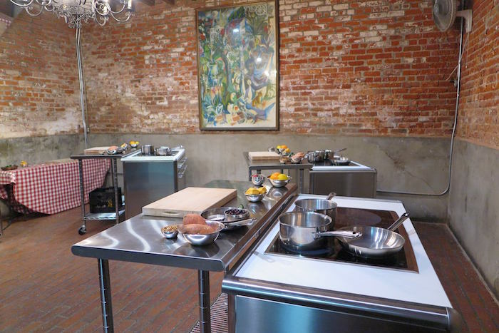 The demonstration kitchen for the New Orleans Cooking School where we made Shrimp (or Chicken) Artichoke Soup!