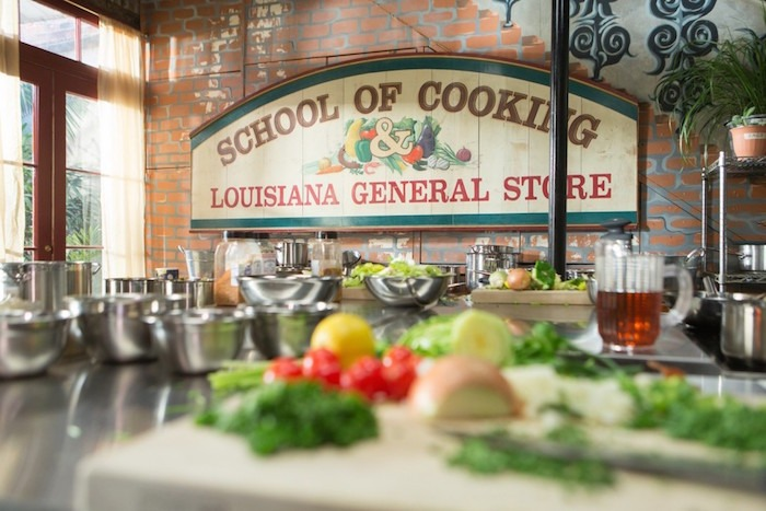 A photo of the New Orleans cooking school where we made Shrimp (or Chicken) Artichoke Soup!