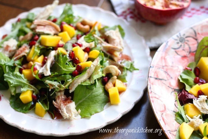 Mango Pomegranate Chicken Salad