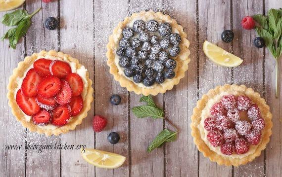 Lemon Berry Mascarpone Tarts