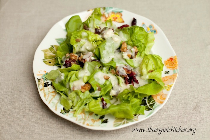 Butter Leaf Salad with Creamy Pear Vinaigrette!