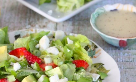 Strawberry Avocado Salad with Lemon Poppyseed Vinaigrette