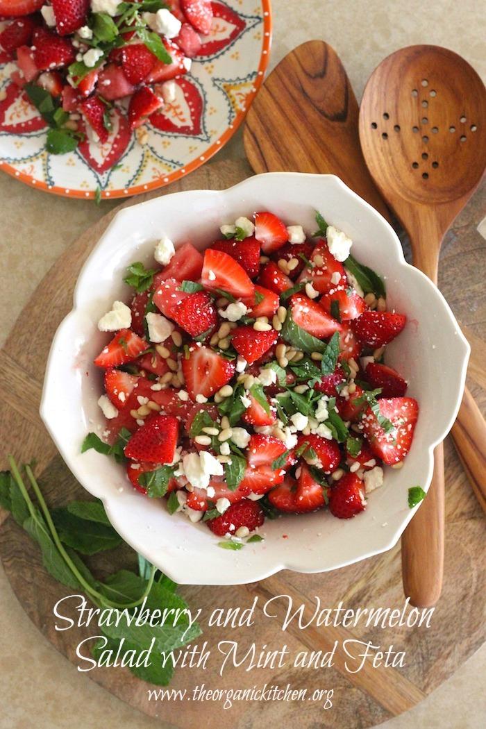 The Sundance Strawberry and Watermelon Salad with Mint and Feta #strawberrysalad #glutenfree #grainfree #summerfruitsalad #mint
