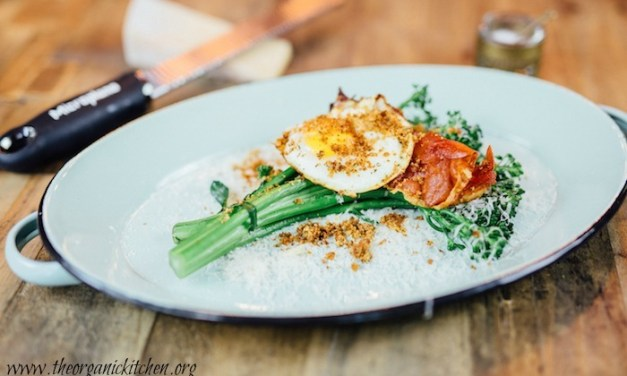 Broccolini with Parmesan, Prosciutto and Fried Egg