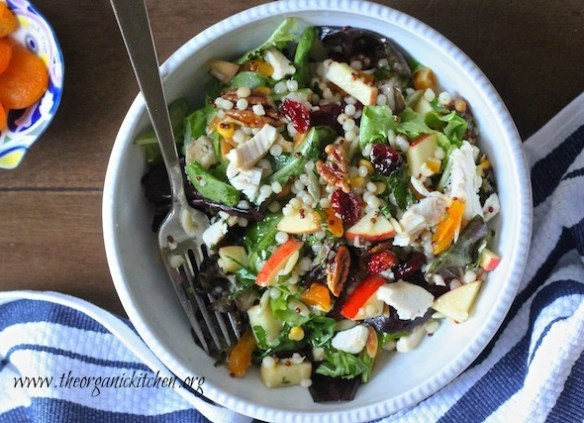 The Harvest Salad: Greens, Couscous, Fall Fruit and Apple Vinaigrette