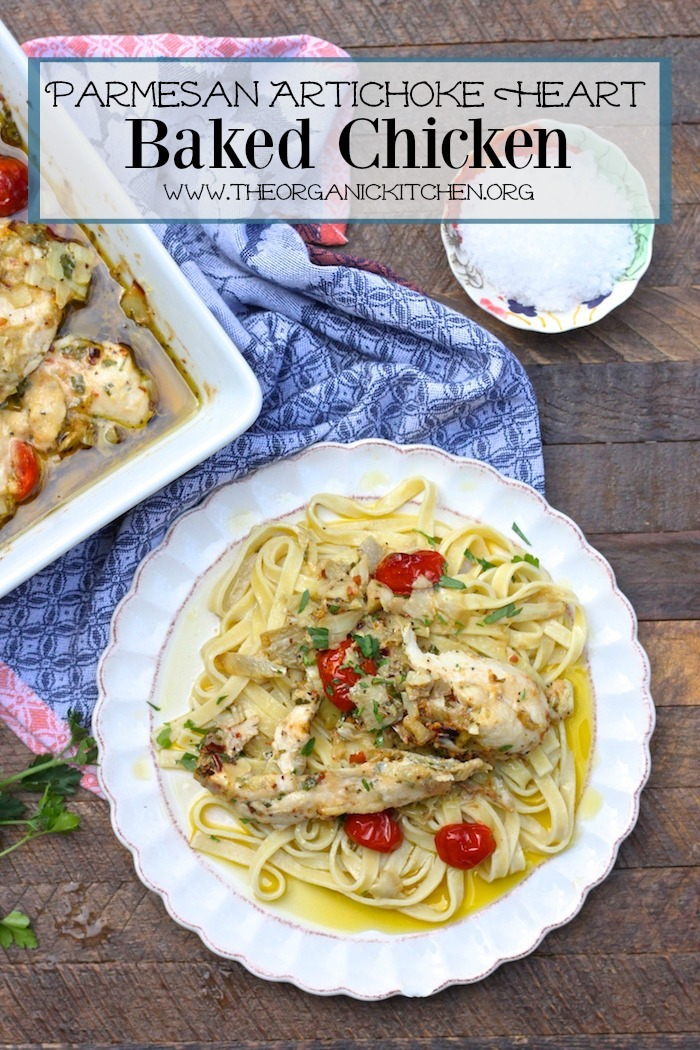 Parmesan and Artichoke Heart Baked Chicken #parmesanchicken #lowcarbparmesanchicken #ketoparmesanchicken