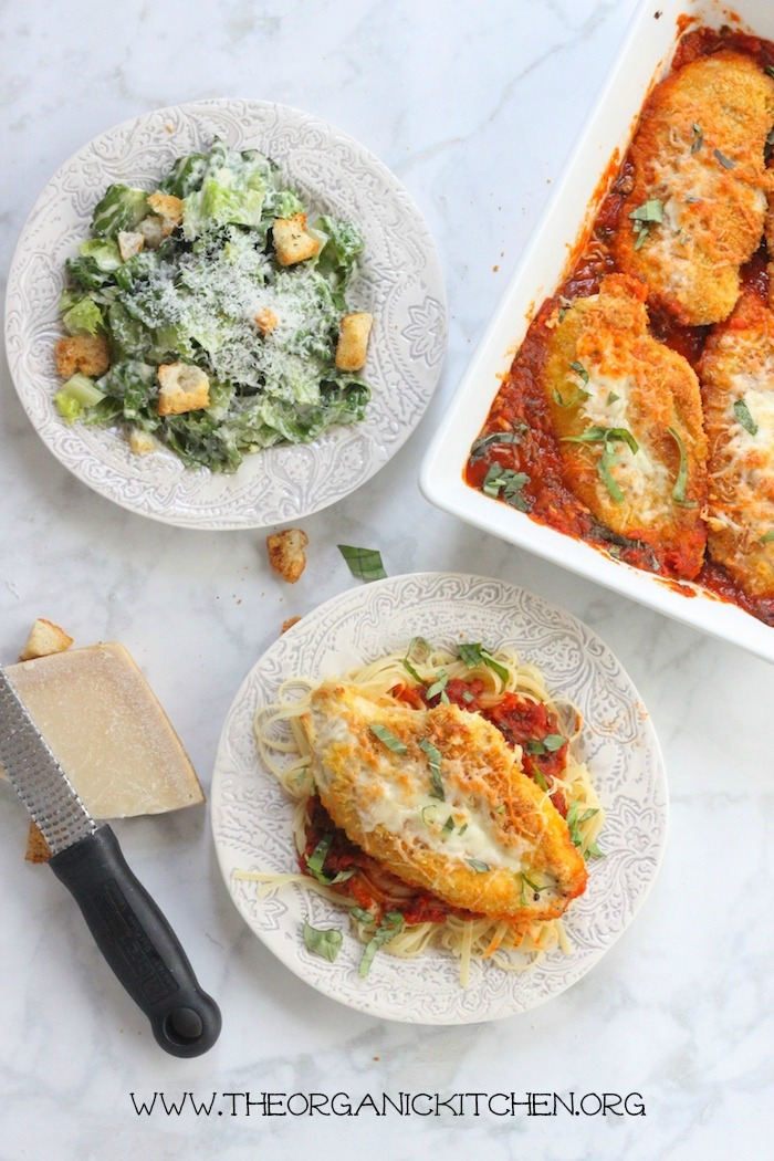 Easy Chicken Parmesan with Gluten Free Option!