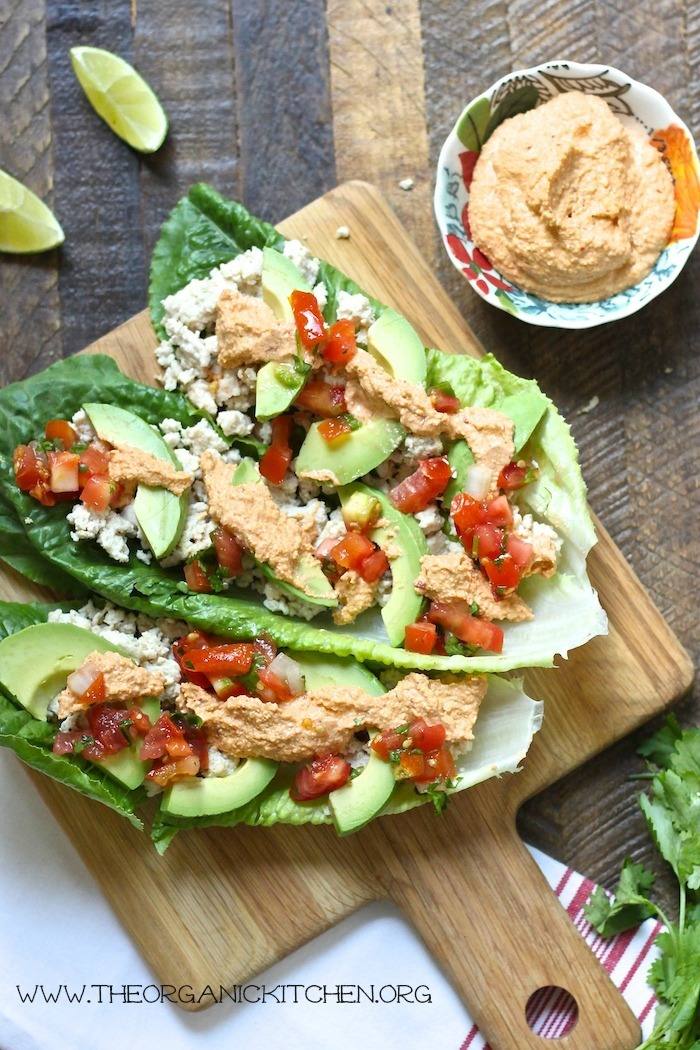 Whole 30/Paleo Chicken Tacos with Chipotle Lime Cashew Sauce