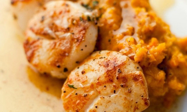 Seared Scallops with Butternut Squash Puree