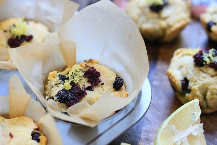 Keto Lemon Blueberry Muffins- Paleo, low carb
