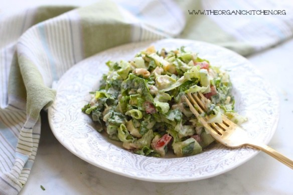 Chopped Chicken Salad with Ranch ~ Whole 30/Paleo