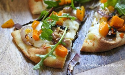 Grilled Naan Pizza with Roasted Butternut Squash!