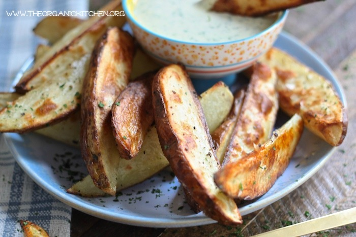 Whole 30 Potato Wedges with Ranch Dressing!