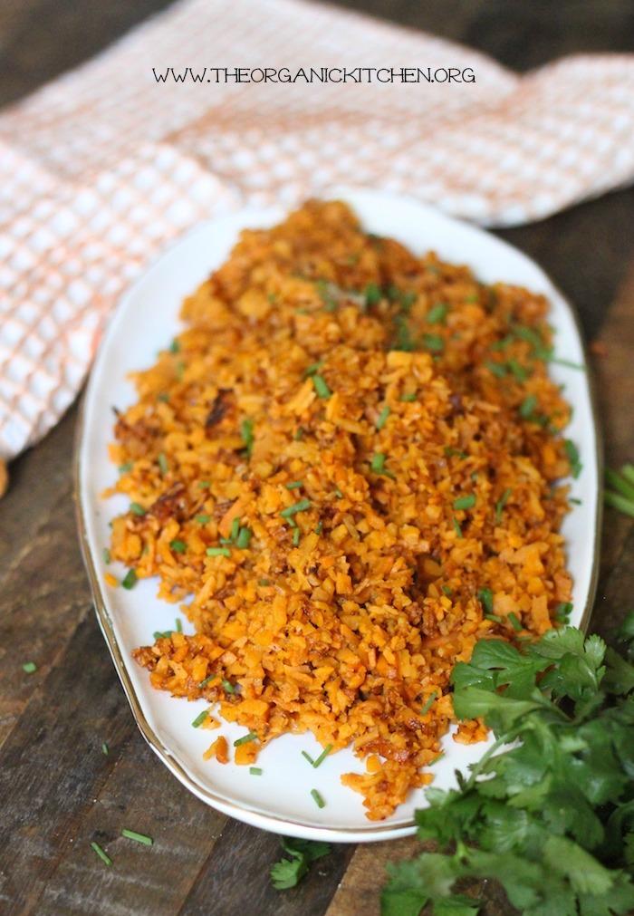 How to make Sweet Potato Rice! Paleo-Whole 30 #sweetpotatorice #paleo #whole30 #vegan #howto