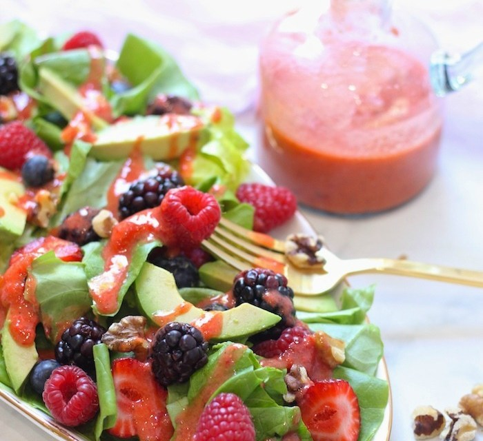 Mixed Berry Salad with Strawberry Vinaigrette (Paleo-Whole30)