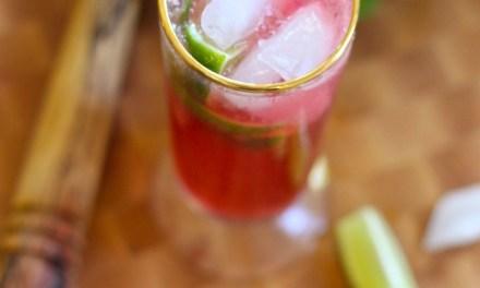Pomegranate Lime Non-Alcoholic Spritzer