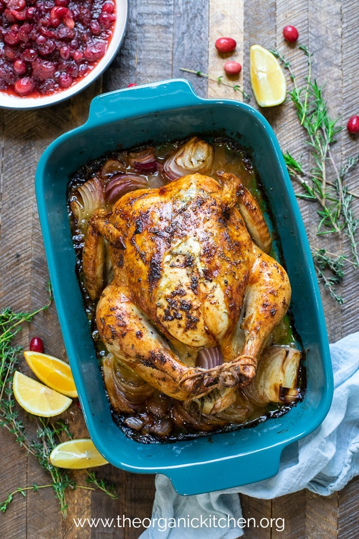 Citrus and Herb Roast Chicken ~ Any Day or Holidays! #roastchicken #keto #paleo #whole30 #holidaychicken