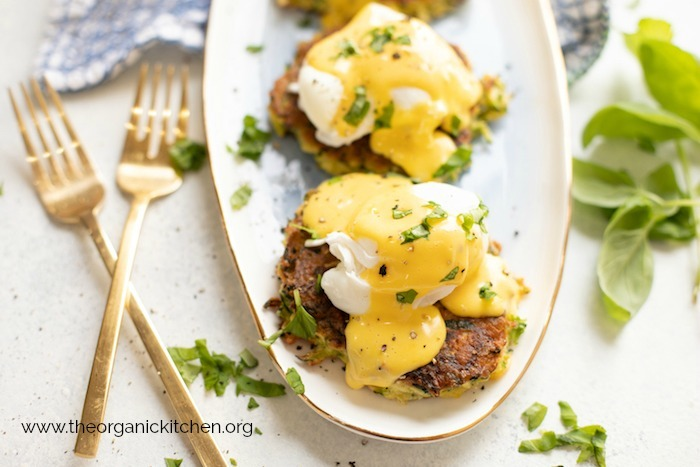 Farmhouse Zucchini Eggs Benedict! (Paleo-Whole30 option)
