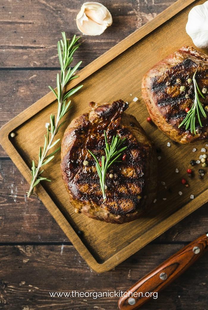 Steak Au Poivre~ Peppered Filet Mignon #steakaupoivre #filetmignon #whole30 #paleo #keto