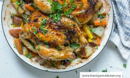 Roasted Citrus Herb Game Hens with Vegetables