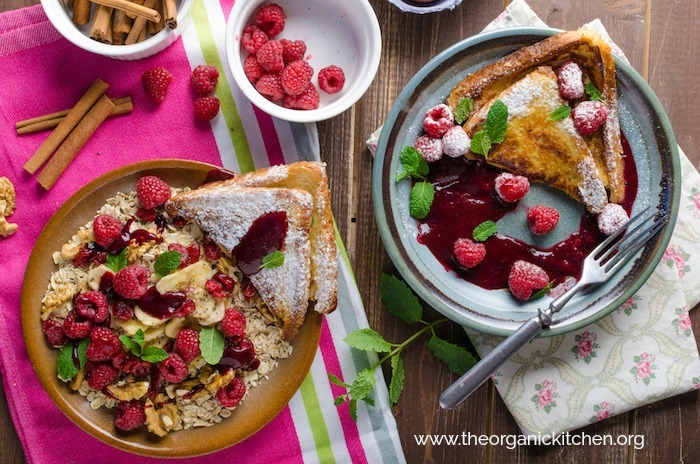 French Toast with Raspberry Compote!