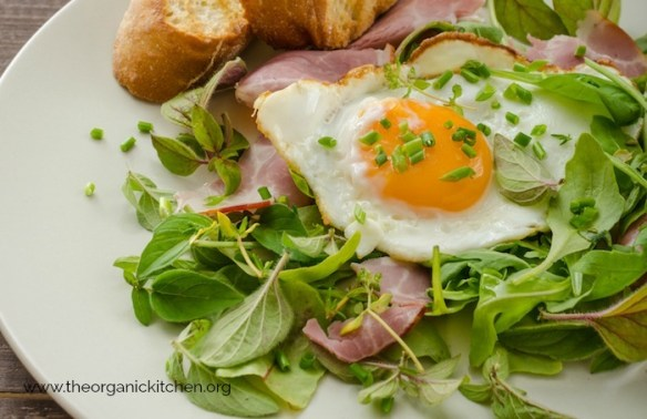 Simple Green Salad with Ham and Fried Egg #simplesalad #paleo #whole30 #keto