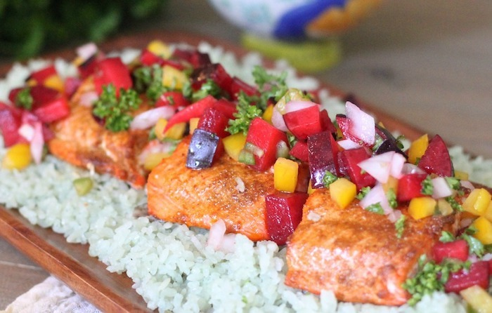 Spicy Salmon with Plum Salsa