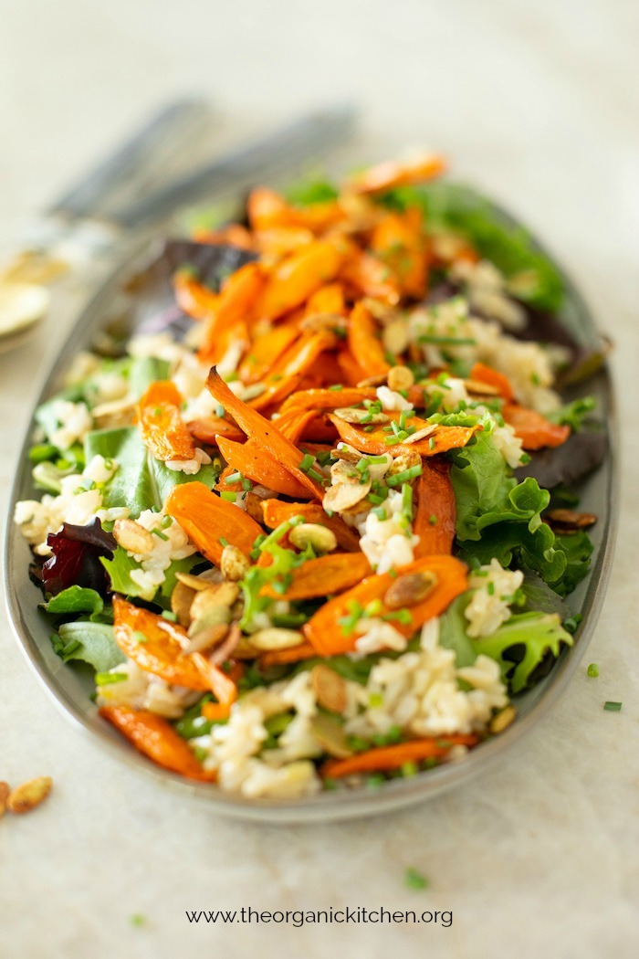 Roasted Carrot and Brown Rice Salad