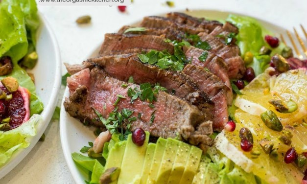 Steak with Citrus and Avocado Salad
