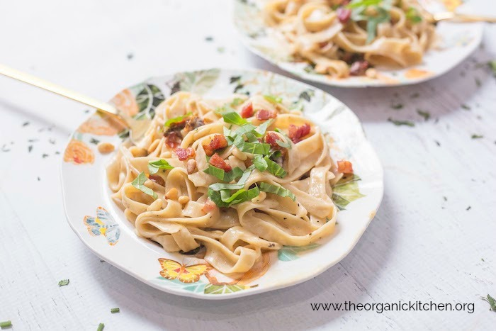 Simple Fettuccine Alfredo with Gluten Free Option