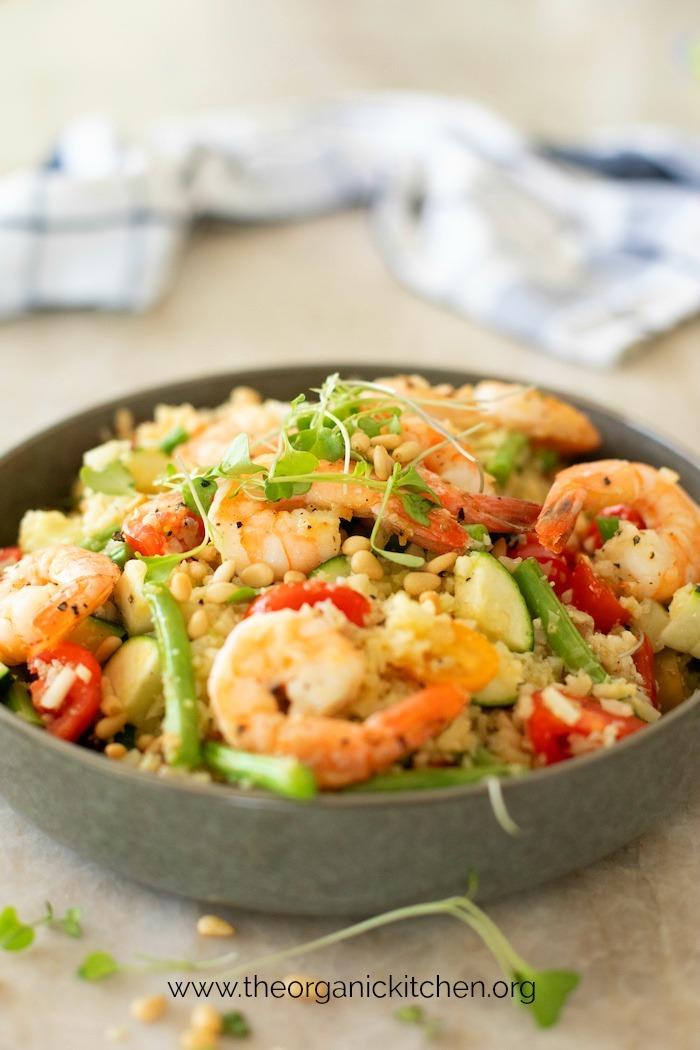 Lemony Shrimp and Vegetable Stir Fry-Whole30, Paleo, Low Carb, Keto