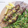 Steak Kabobs with Dijon Green Beans