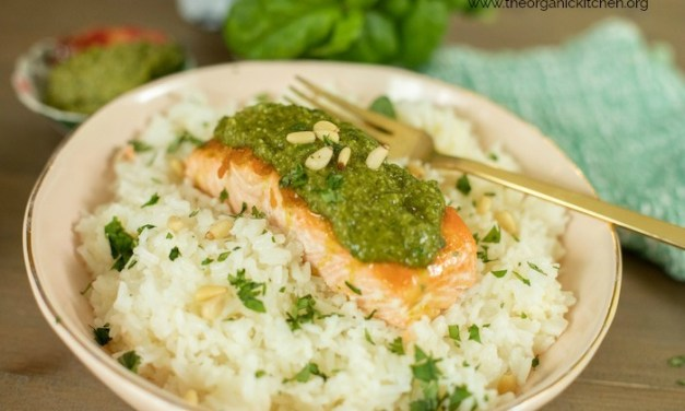 Pesto Salmon (Whole30-Keto-Low Carb)
