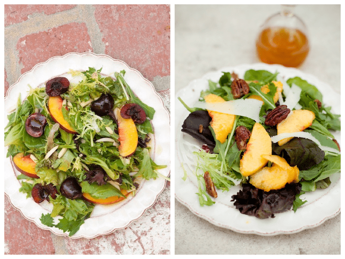 Grilled Apricot and Blueberry Salad